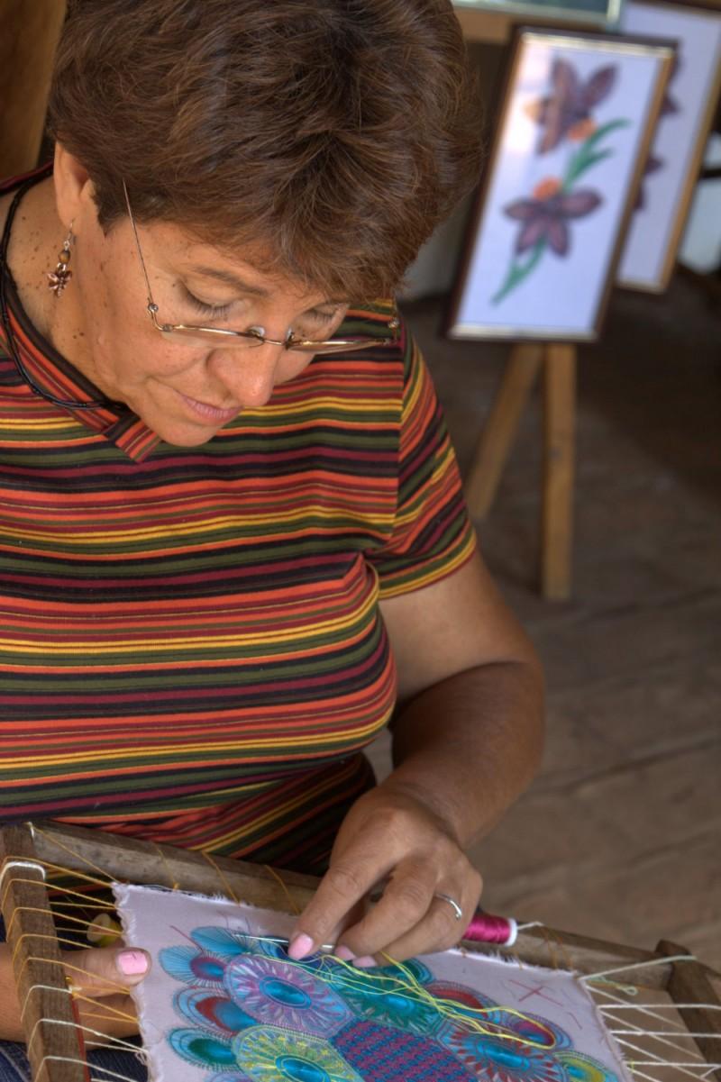 creating ñandutí