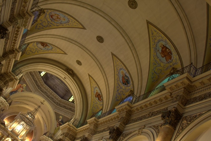 church ceiling in jujuy