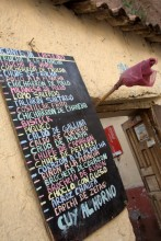 menu in cuzco