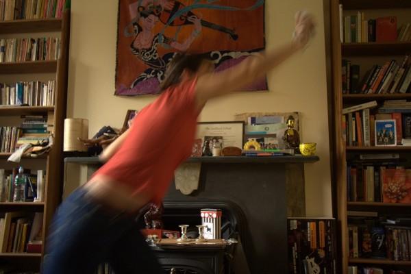 christine playing wii