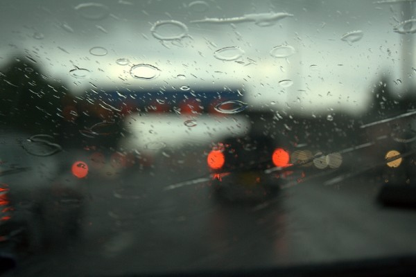 rainy driving in england