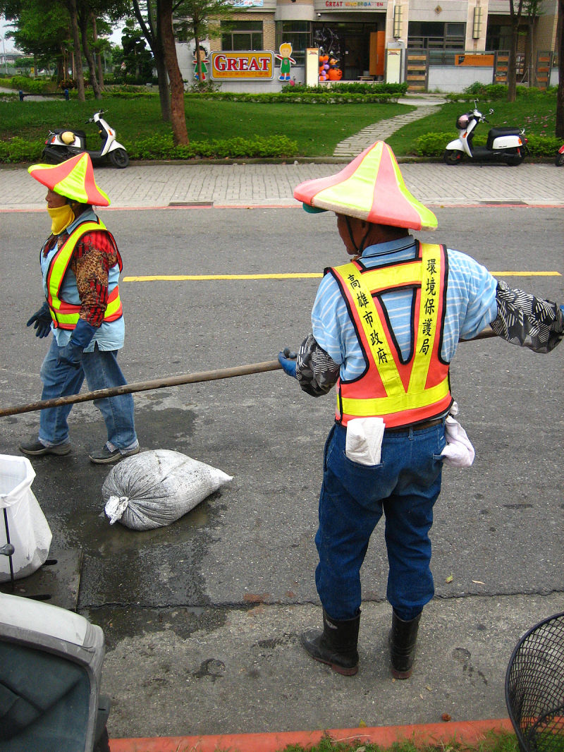 cleaning the sewers