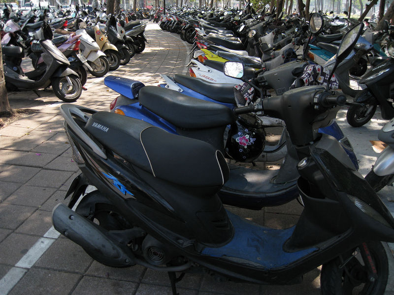 scooter parking lot