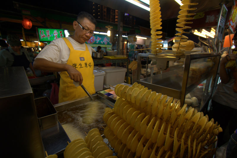 potato twists at the night market