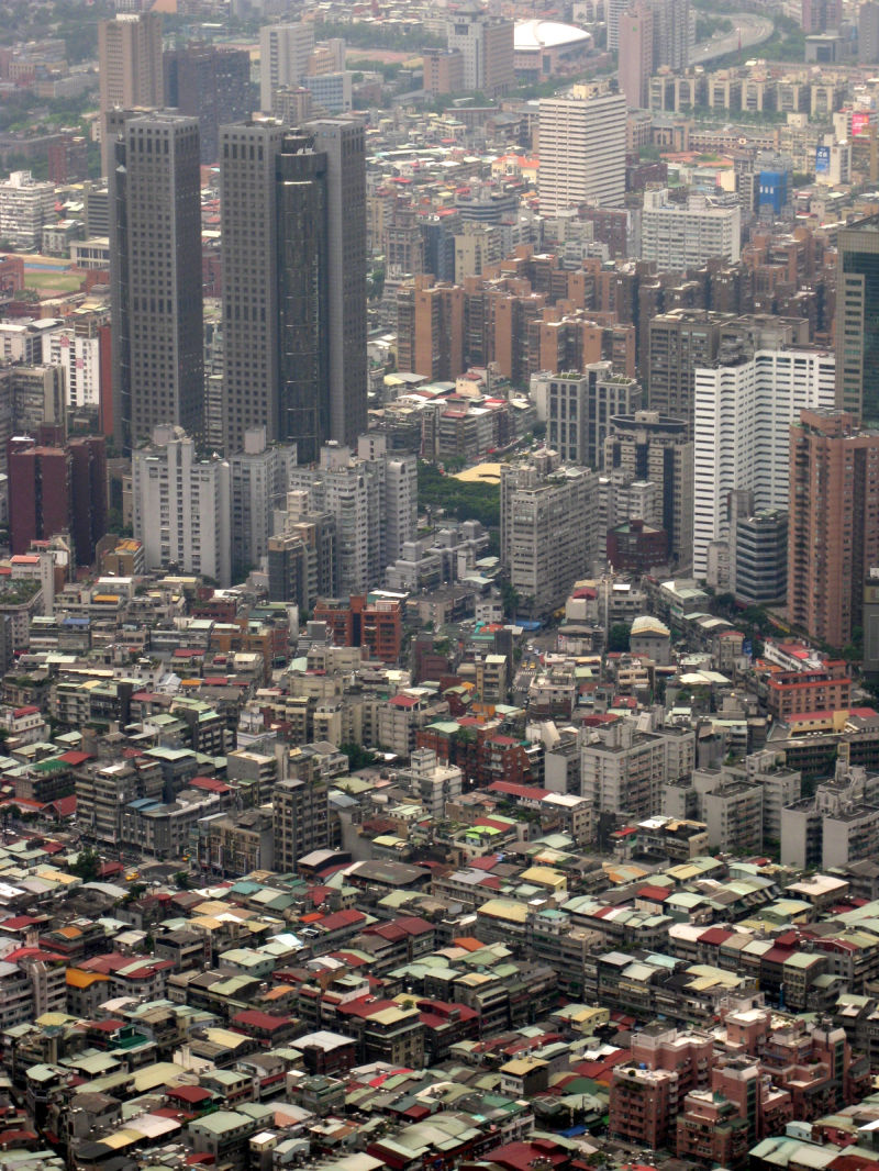 a view of taipei from above