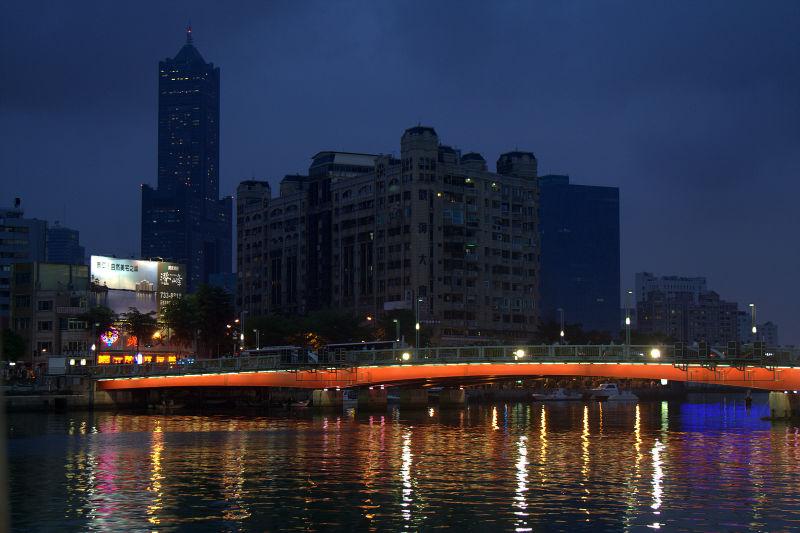 love river at night