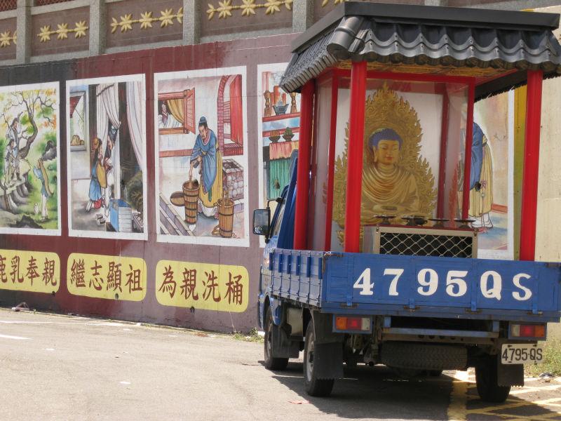 buddha in a truck