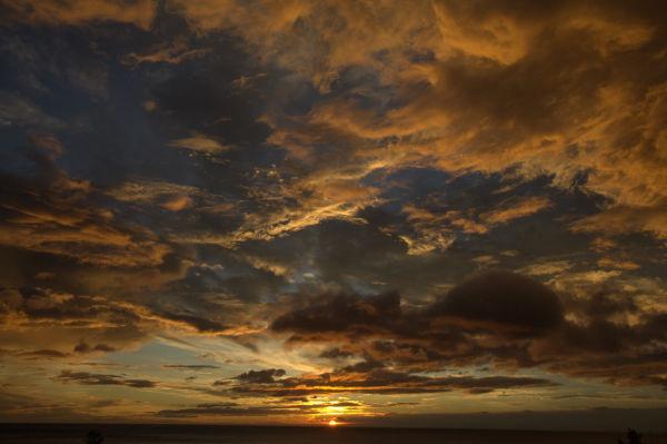 burnt sunset