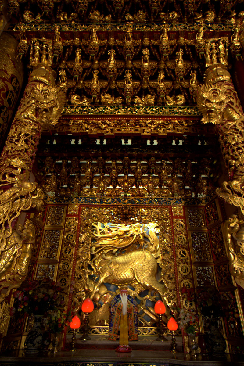 dragon altar in a temple
