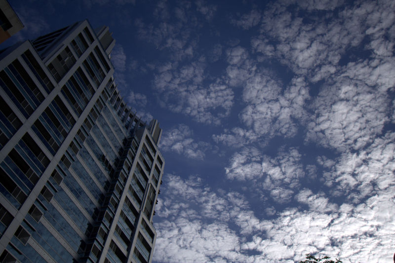 clouds and building