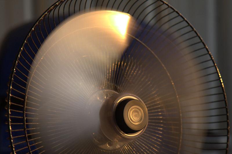 sunset on a fan
