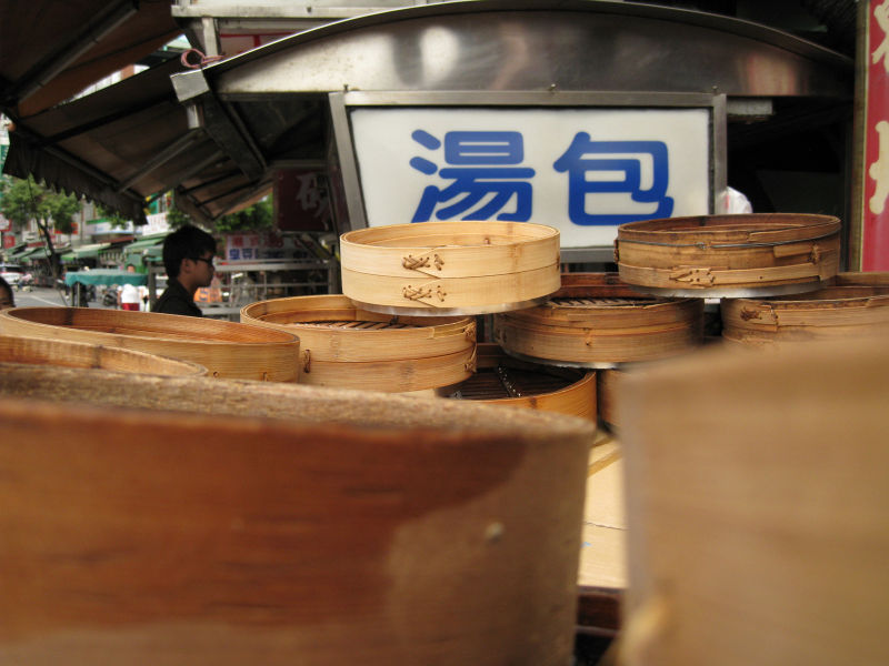 dumpling steamer trays drying