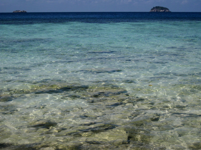 coral island water