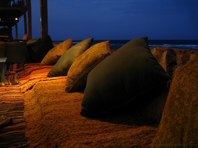 sunset at the restaurant in dahab