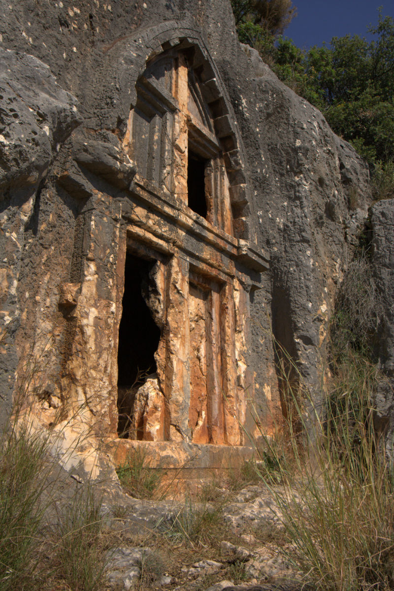 lycian tomb in Kaş