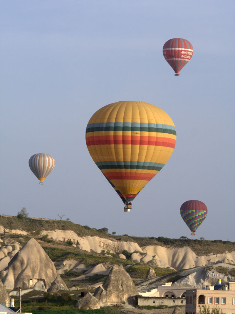 hot air in cappadocia