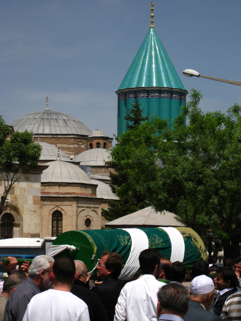 mevlana tomb and a funeral