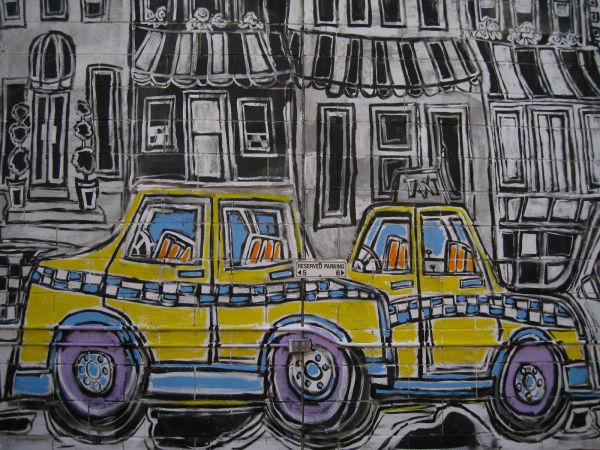graffiti taxi