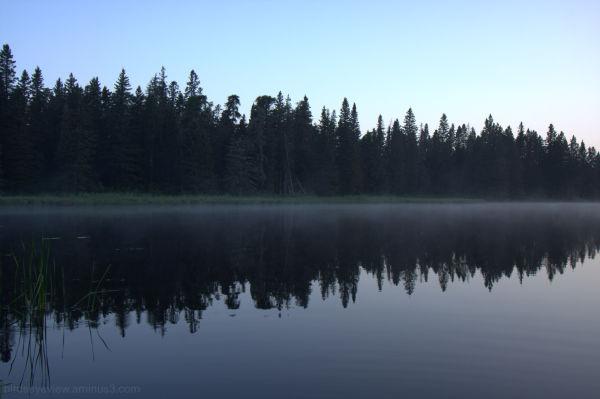 sunrise on whirlpool lake