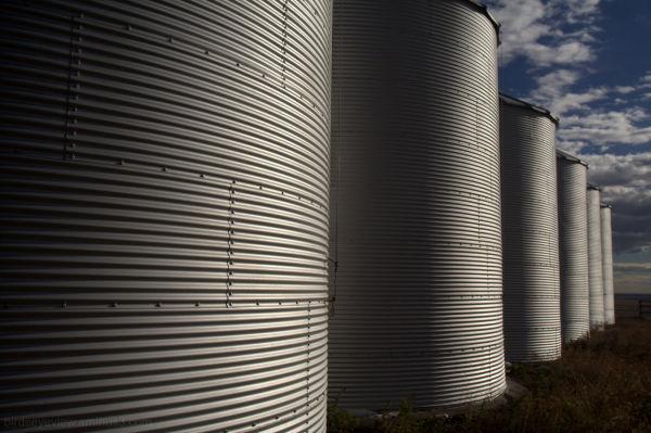 silos all in a row