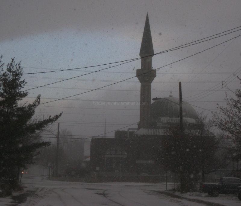 snow storm mosque