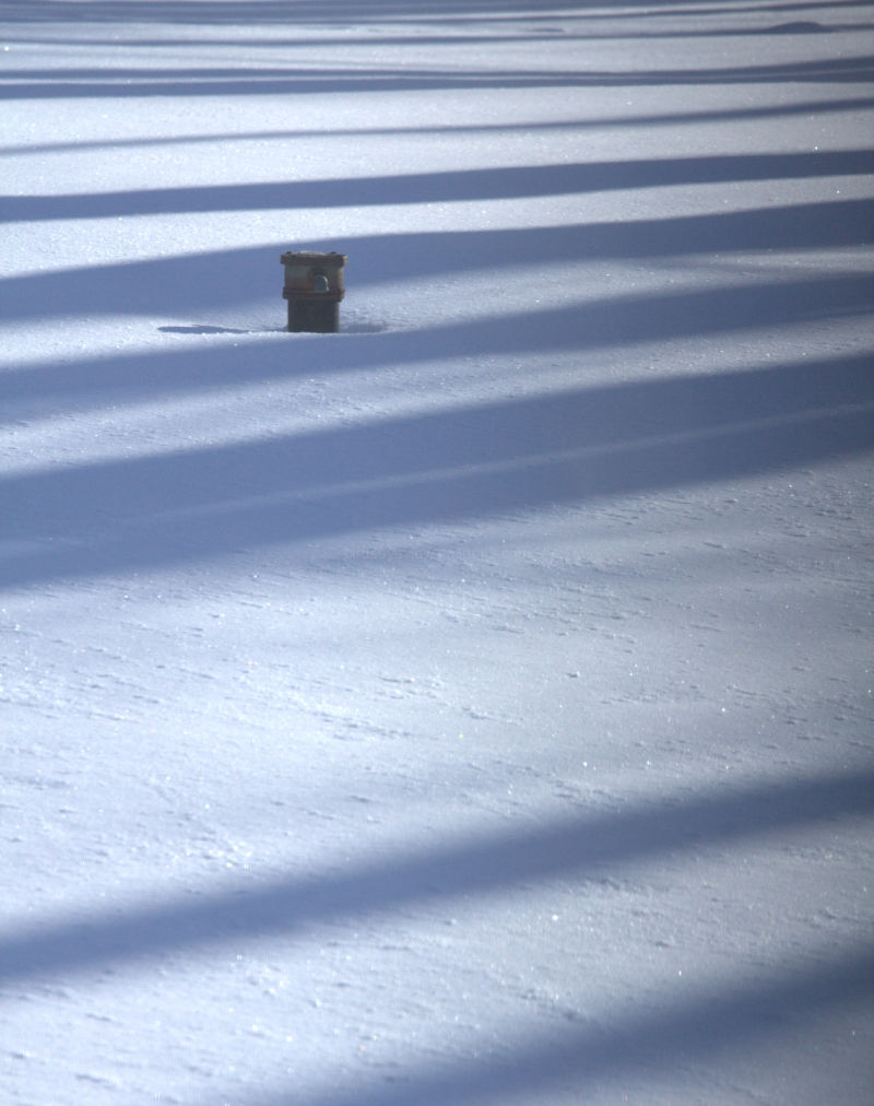 shadow lines on the snow