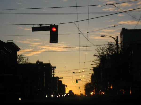 sunrise down the road