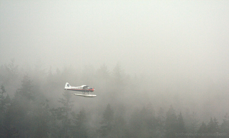 cloudy day seaplane