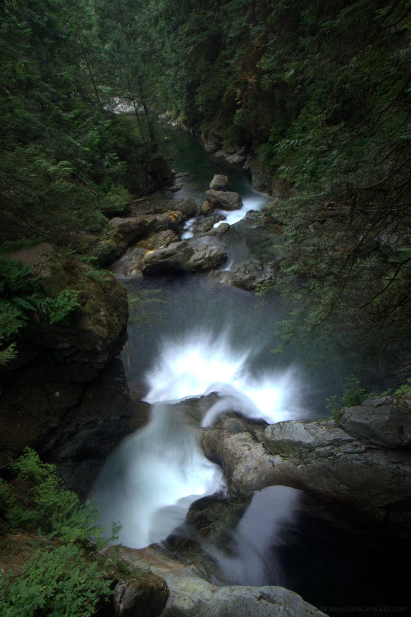 lynn canyon twin waterfalls