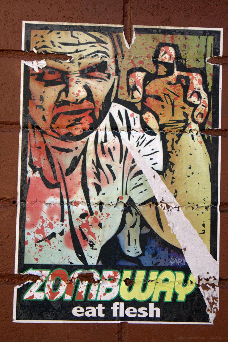 zombie subway poster