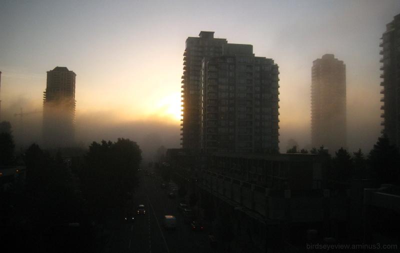 hovering fog
