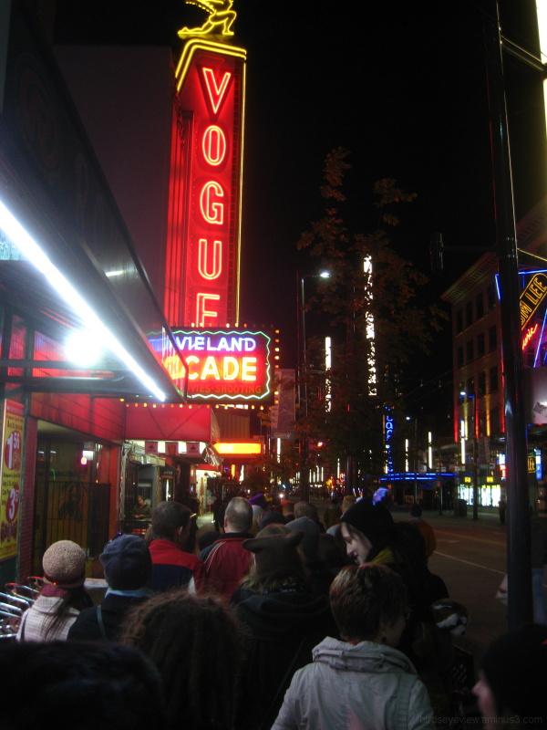queue at the vogue