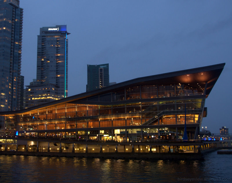vancouver convention centre by night