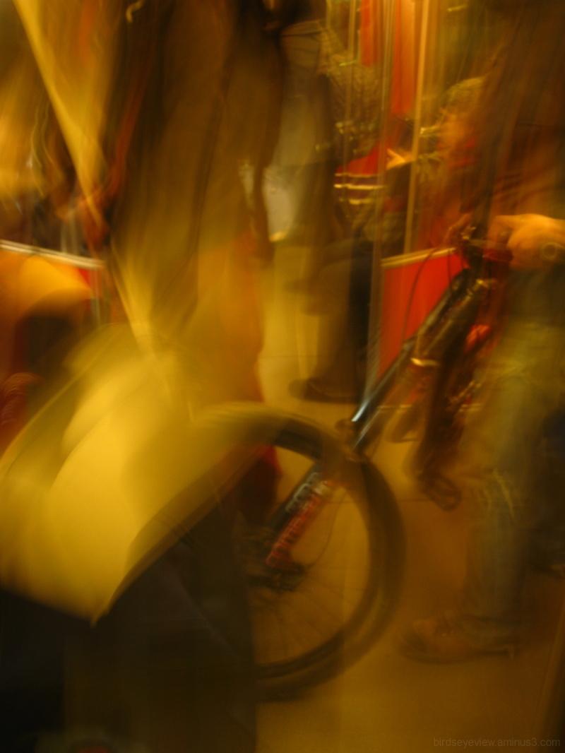 blurry skytrain