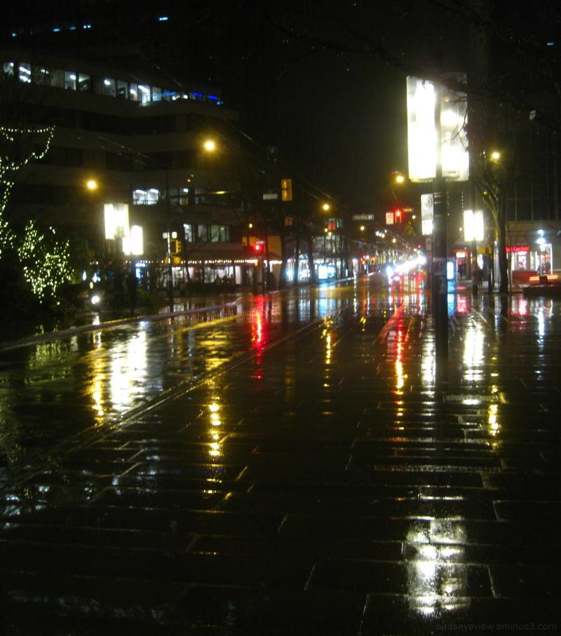 wet rainy night