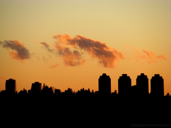 metrotown sunset