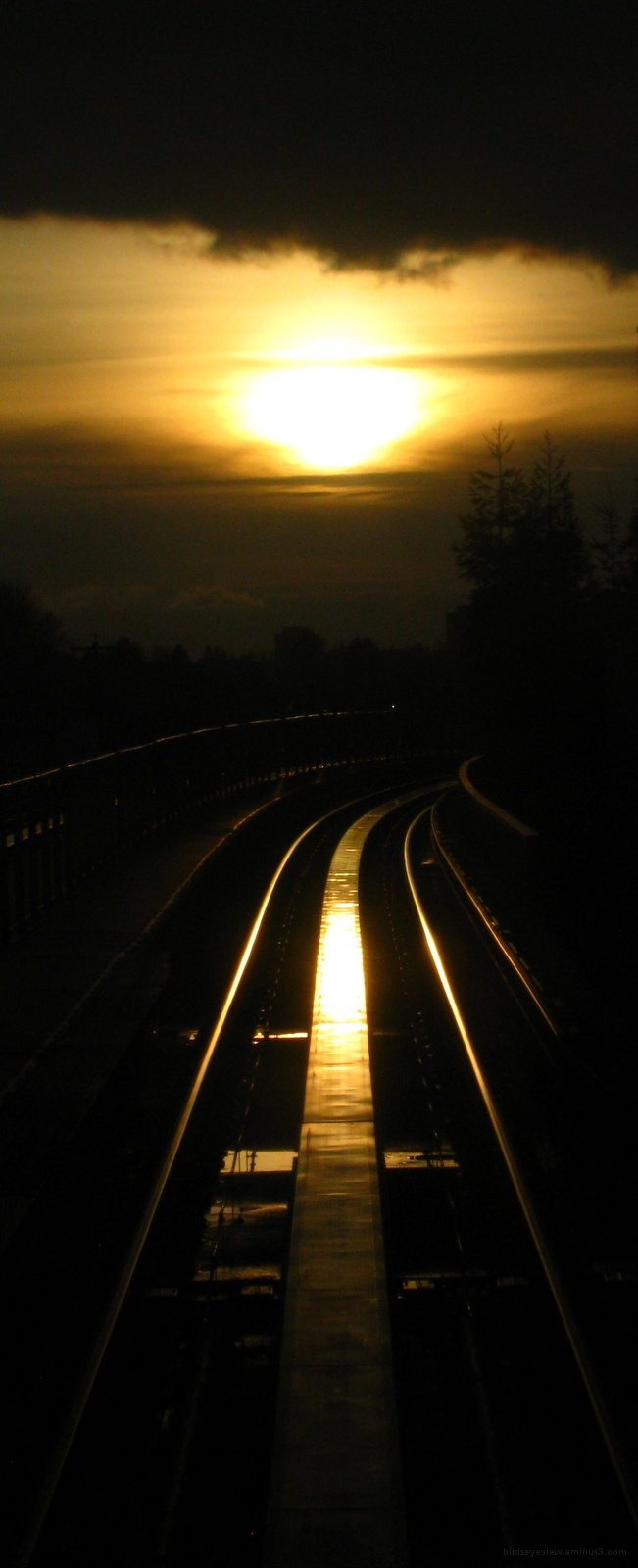 sun on the rails