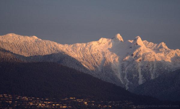 pink morning mountains