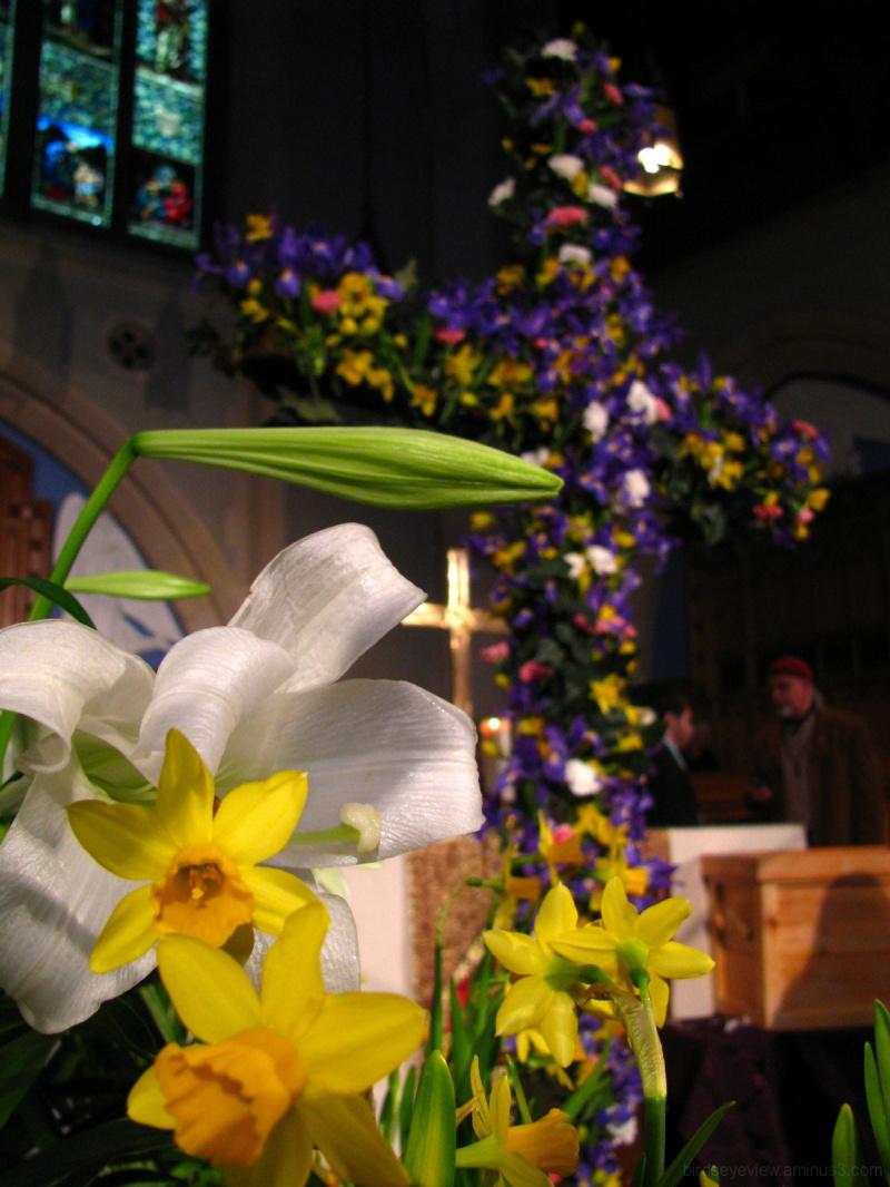 flowery cross