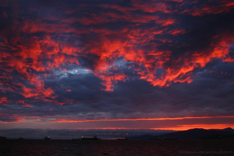 gorgeous fiery sunset