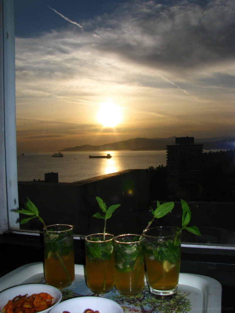 mojitos and a sunset