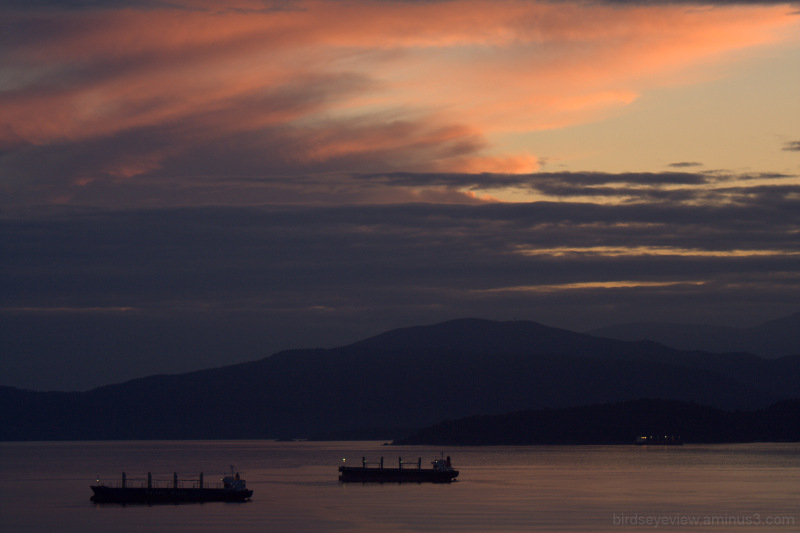 english bay sunset