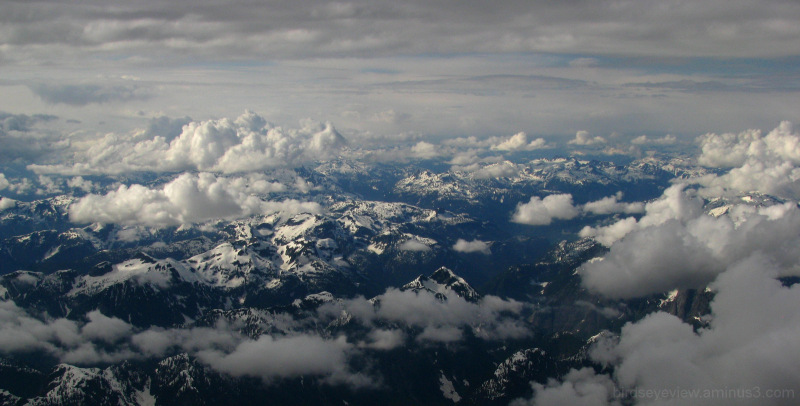 the rockies from the plane