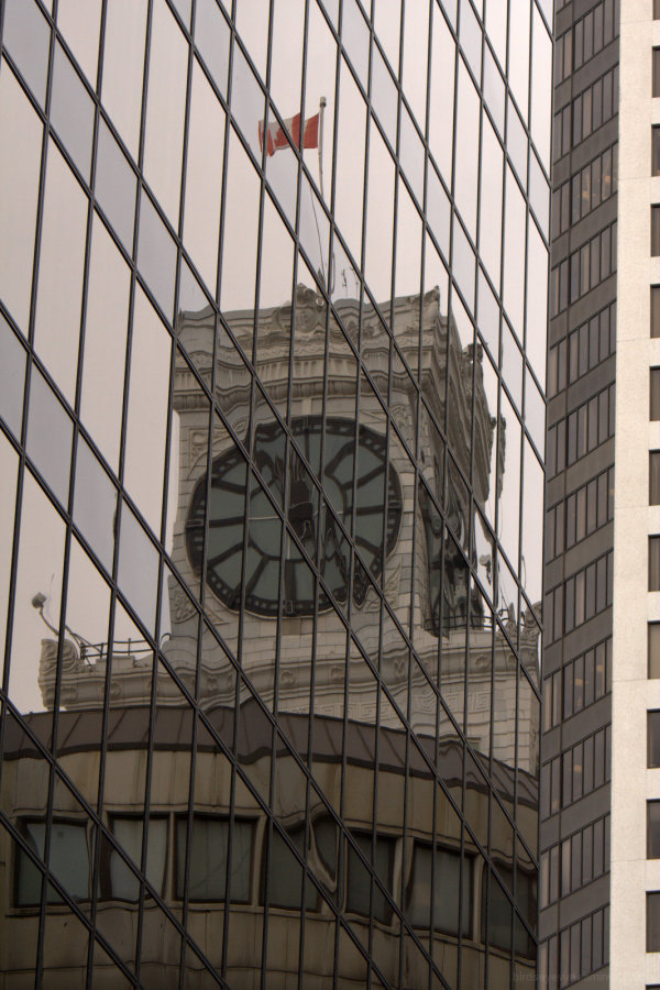 clock reflection