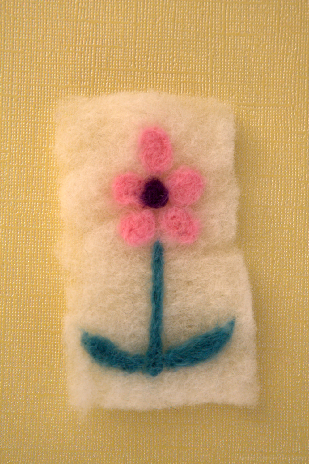 felting a flower