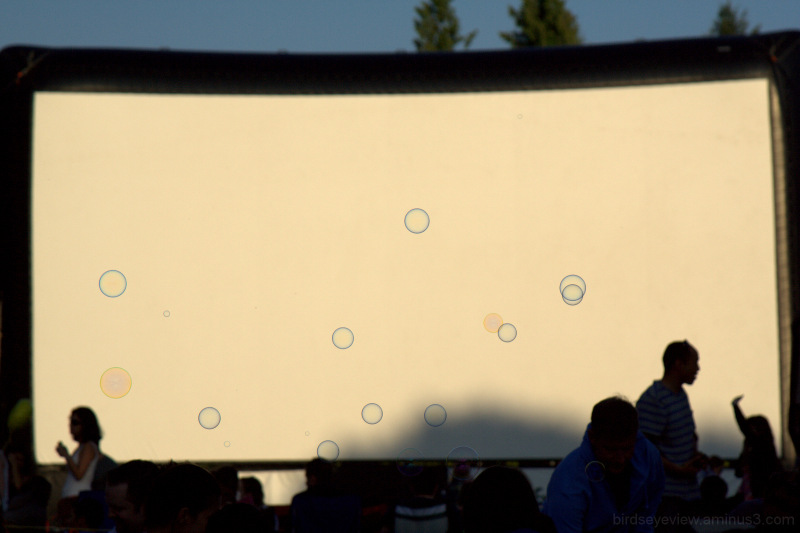bubbles on screen