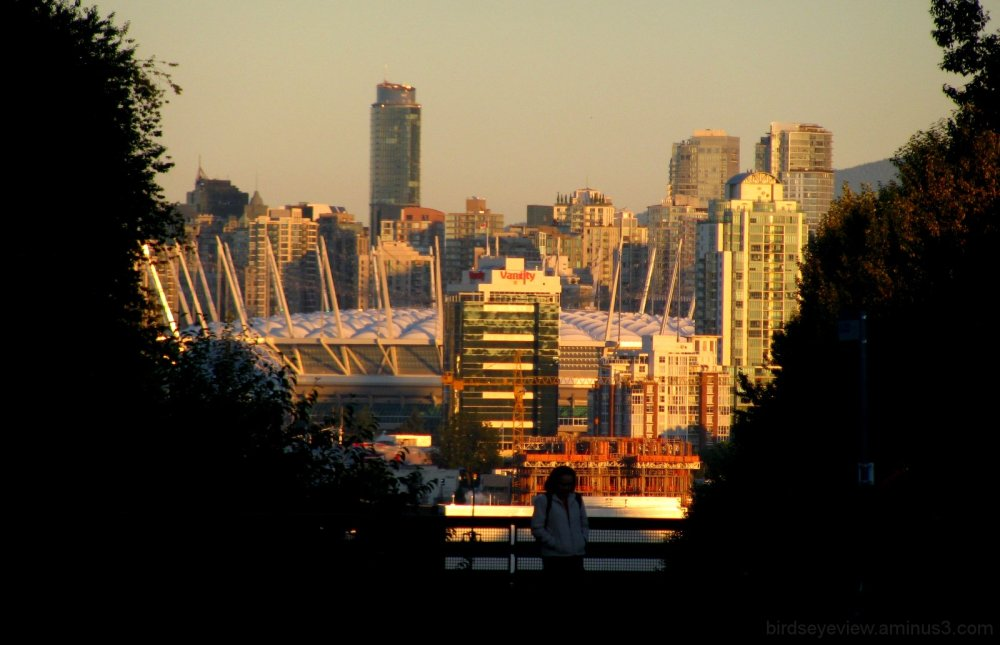 headed out of downtown vancouver