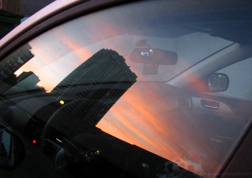 sunrise car