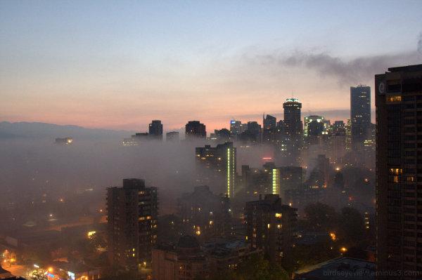 morning fog creeping in