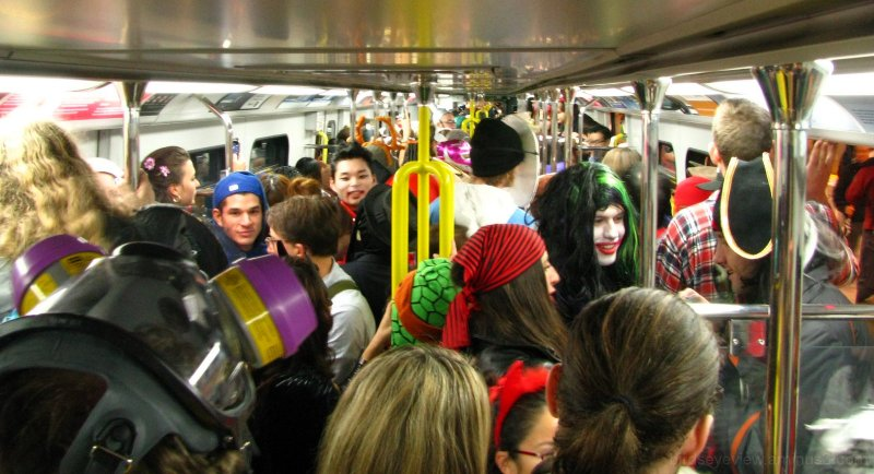 vpsn halloween party on the skytrain
